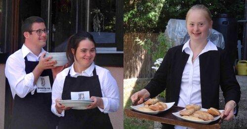 Café restaurant animé par des handicapés