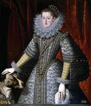 Marguerite d'Autriche-Styrie, par Bartolomé González y Serrano, 1609, Madrid, Musée du Prado.