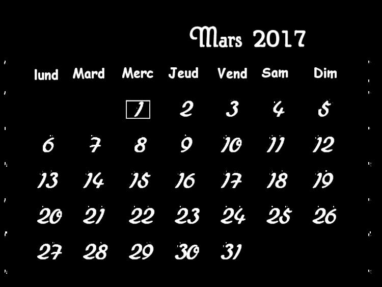 * Défi Calendrier Mars 2017 *