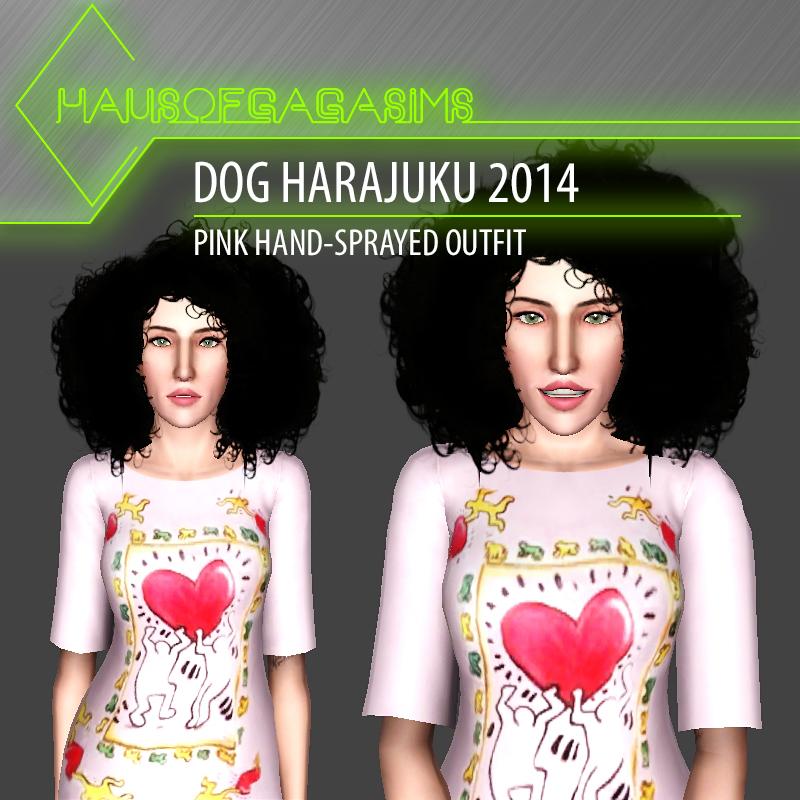DOG HARAJUKU 2014 PINK HAND-SPRAYED OUTFIT