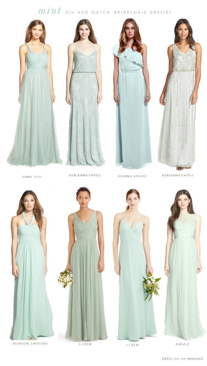 Mismatched mint green bridesmaid dresses trend 2015 lindajuyou ombrellifo Image collections