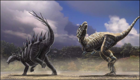 Lexovisaurus_vs_Allosaurus_by_dustdevil