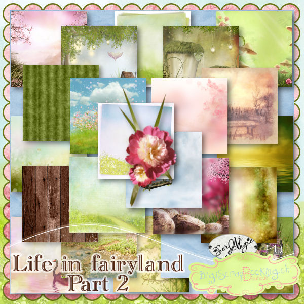 """Life in Fairyland"" part 2 by Scrap'Angie"