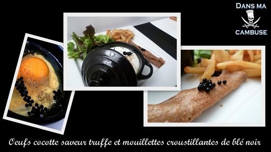 oeufs cocotte saveur truffe