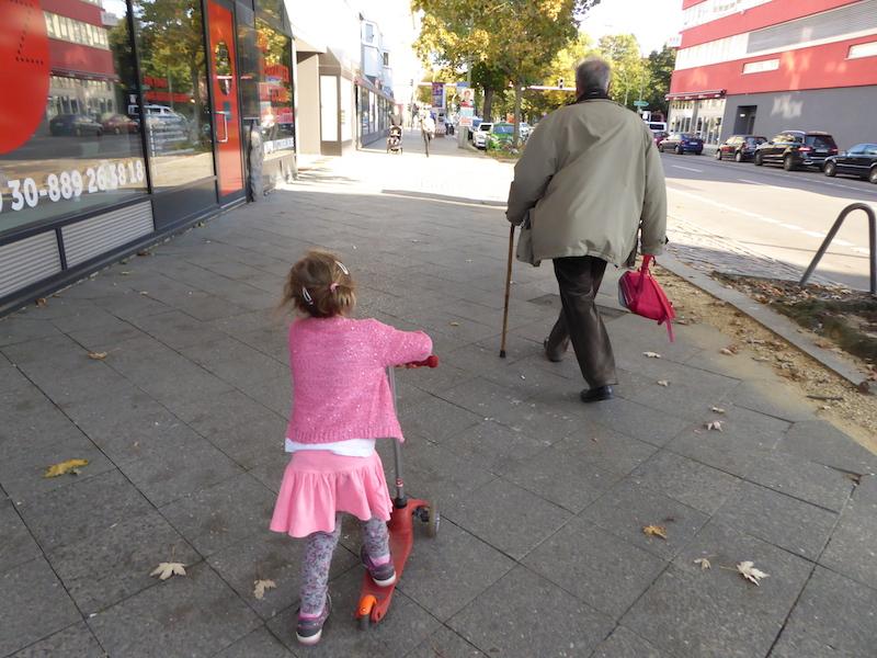 Sur le chemin de l'école à Berlin.