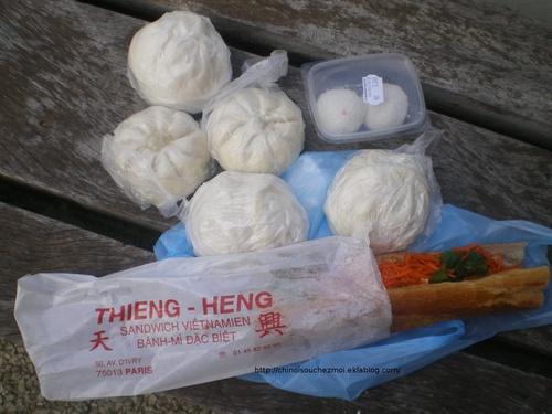 Sandwich vietnamien et Brioches fourrées