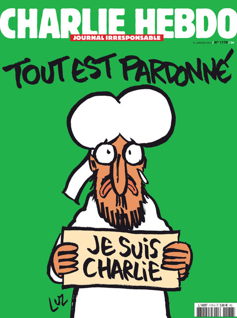 Mahomet en Une de Charlie Hebdo: «Je suis Charlie»