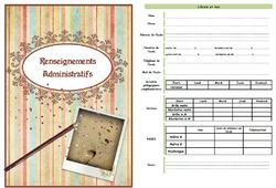 Journal de bord, cahier, enseignants, rensignements administratifs