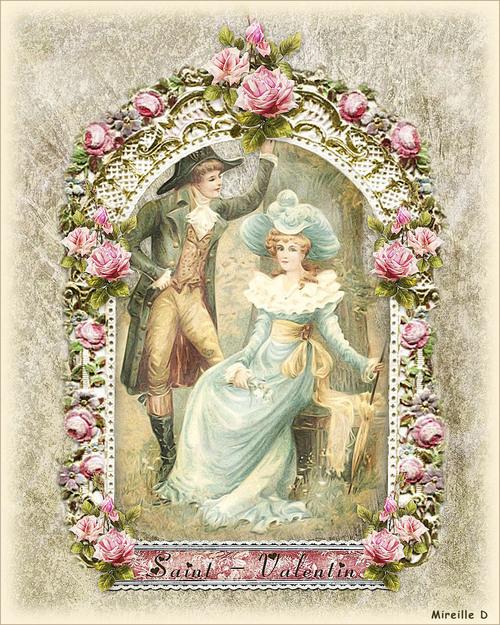Saint-Valentin 2020 Vintage (Carte Montage)