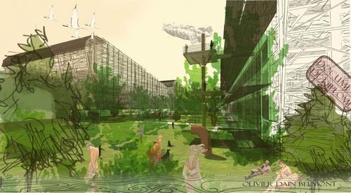 Perspectives issues de mon diplôme «Recherche d'une forme urbaine bioclimatique dense»