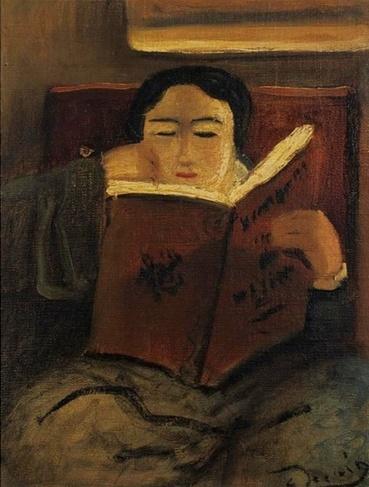 8-Femmes lisant-Peintures 20eme jusqu'à aujourd'hui