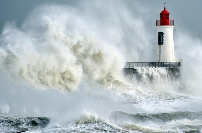 La violente tempête de février 2016 .