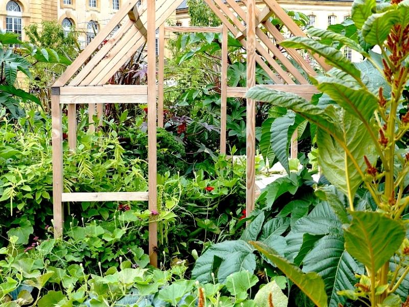 Metz / Quatre amis dans le jardin éphémère 2013...