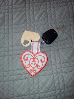 COEUR porte clefs