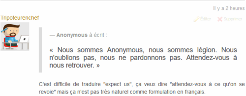 Capture citation commentaire