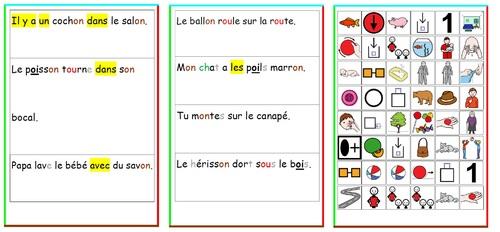 Phrases et pictogrammes : lire et comprendre