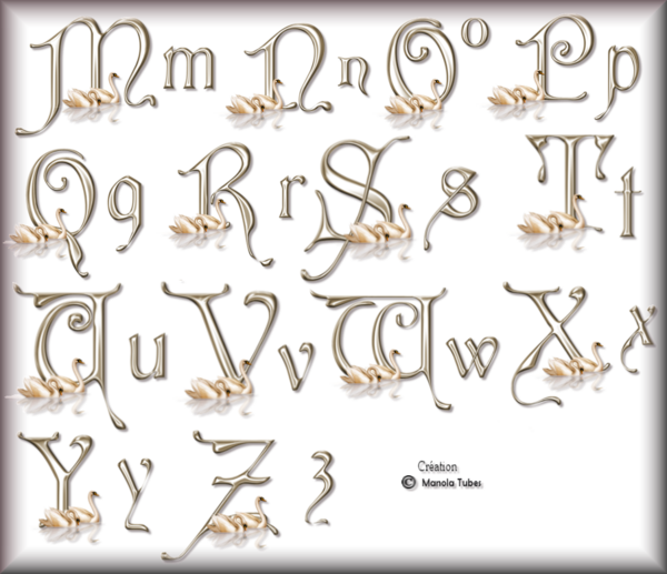 Tube Alphabets 2977 et 2976