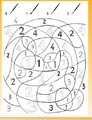 3 coloriages magiques avec les chiffres