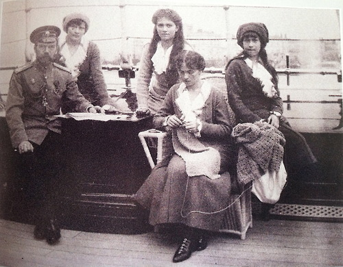 Nicholas II and his daughters aboard the Standart: 1913.