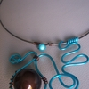collier alu turquoise 14euros