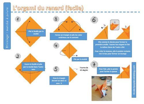 """Un """"renardoux"""" en origami"""
