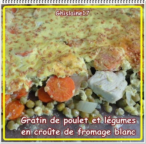 Gratin de poulet et légumes en croûte de fromage blanc