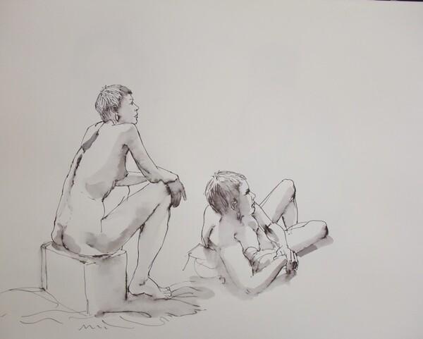 Dimanche - Deux poses
