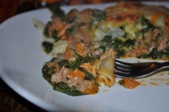 Lasagne au thon et épinard