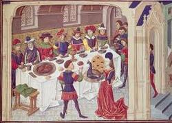 Repas en Europe médiévale