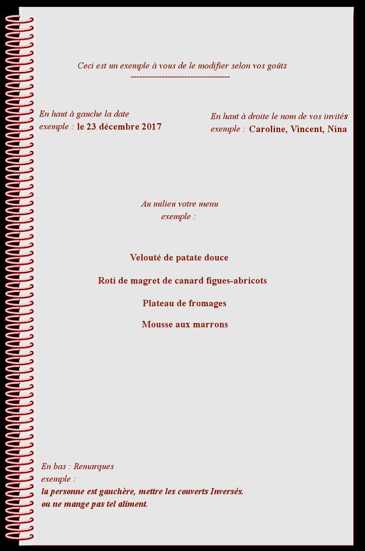 Astuce pour menus-suite