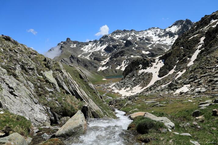 Piemont : entre le col du Longet et le Lago Bleu