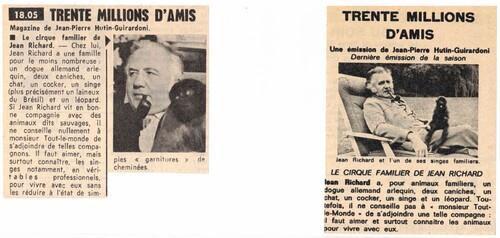 le cirque familier de Jean Richard : 1977