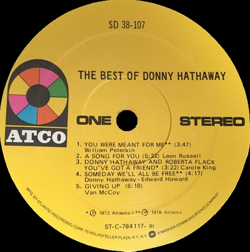 "Donny Hathaway : Album "" The Best Of Donny Hathaway "" Atco Records SD 38-107 [ US ]"