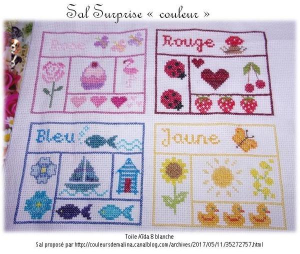 "Sal surprise ""couleurs"" - Rouge"