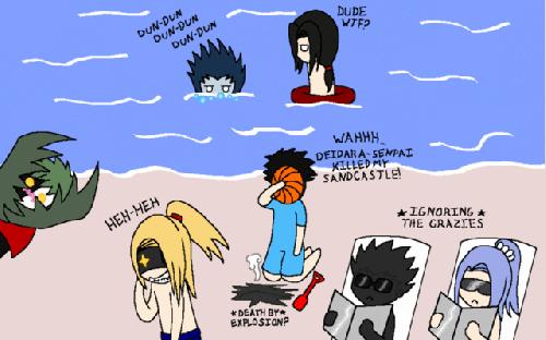 l'akatsuki a la mer