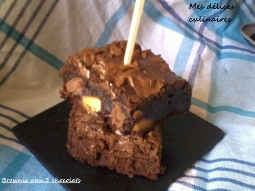 Brownie aux 3 chocolats