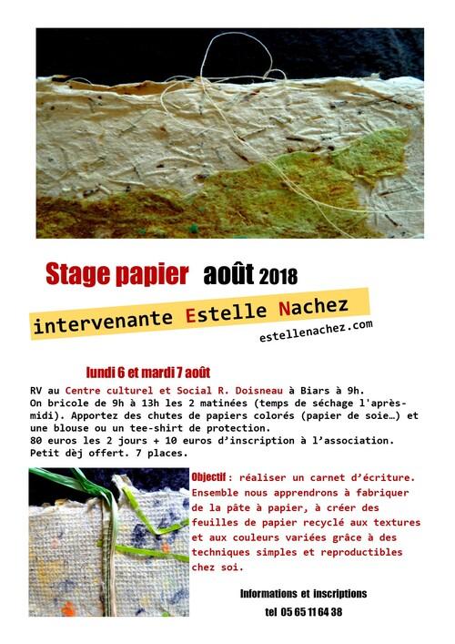 Stage papier recyclé août 2018