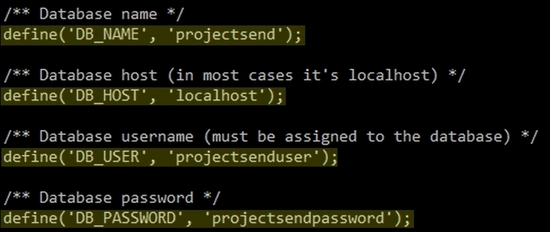 Installer ProjectSend sur Centos 7