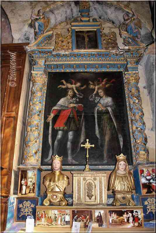 Ansouis Vaucluse église portraits des saints Elzéar et Delphine de Sabran