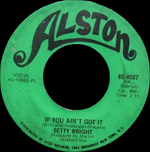 "Betty Wright : Album "" I Love The Way You Love "" Alston Records SD 33-388 [ US ]"