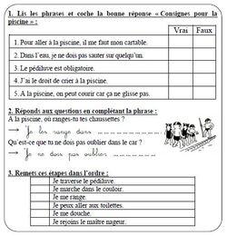 Questionnaire piscine