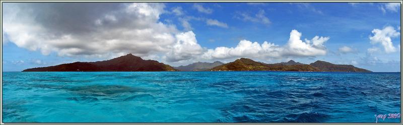 Vue panoramique de Tahaa - Polynésie française