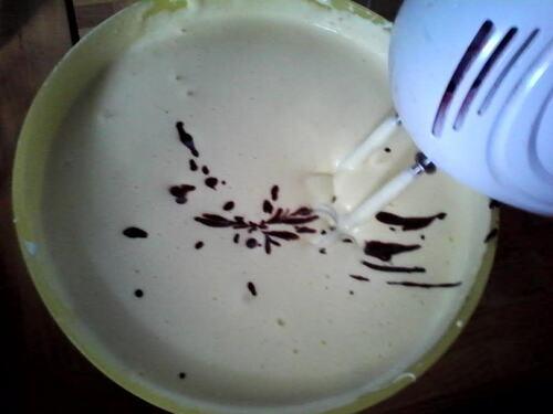 gâteau moelleux (et mousseux) au chocolat déco système solaire (après l'apocalypse^^)