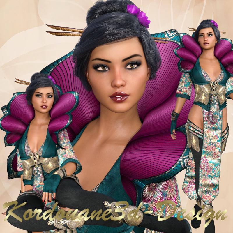 Akemi : Tube de femme fantasy orientale