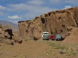 Campement à l'abri d'un canyon