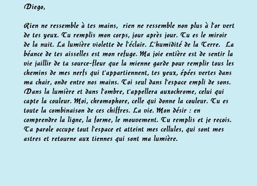 Lettres de Frida Kahlo à Diego Rivera