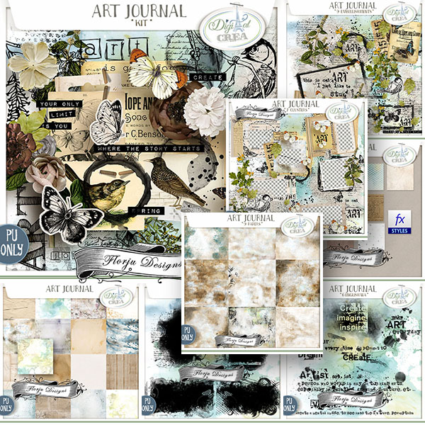 Art Journal { Collection PU } by Florju Designs