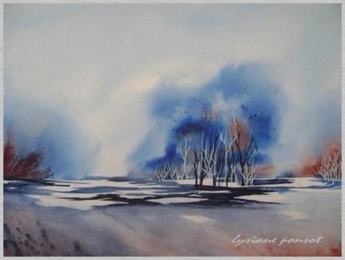 Paysages d'automne et d'hiver