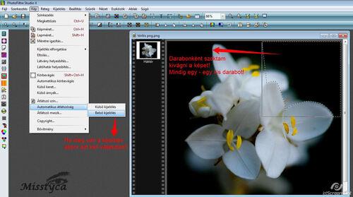 PNG kép készítése körbevágással