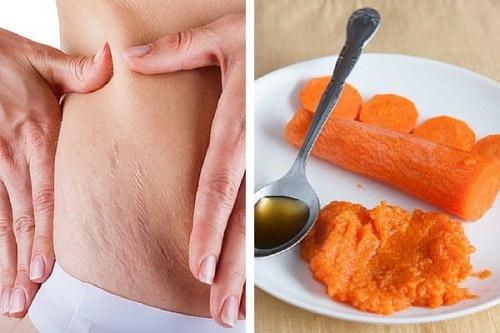 Remède à la carotte contre les vergetures